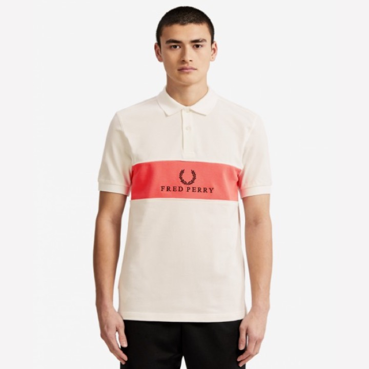 5b3a3a096 Home   Clothing   Polo Shirt   FRED PERRY Panel Piped Polo Shirt